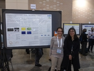 Kathryn (left) with Ewa Paluch at ASCB 2014 Philadelphia