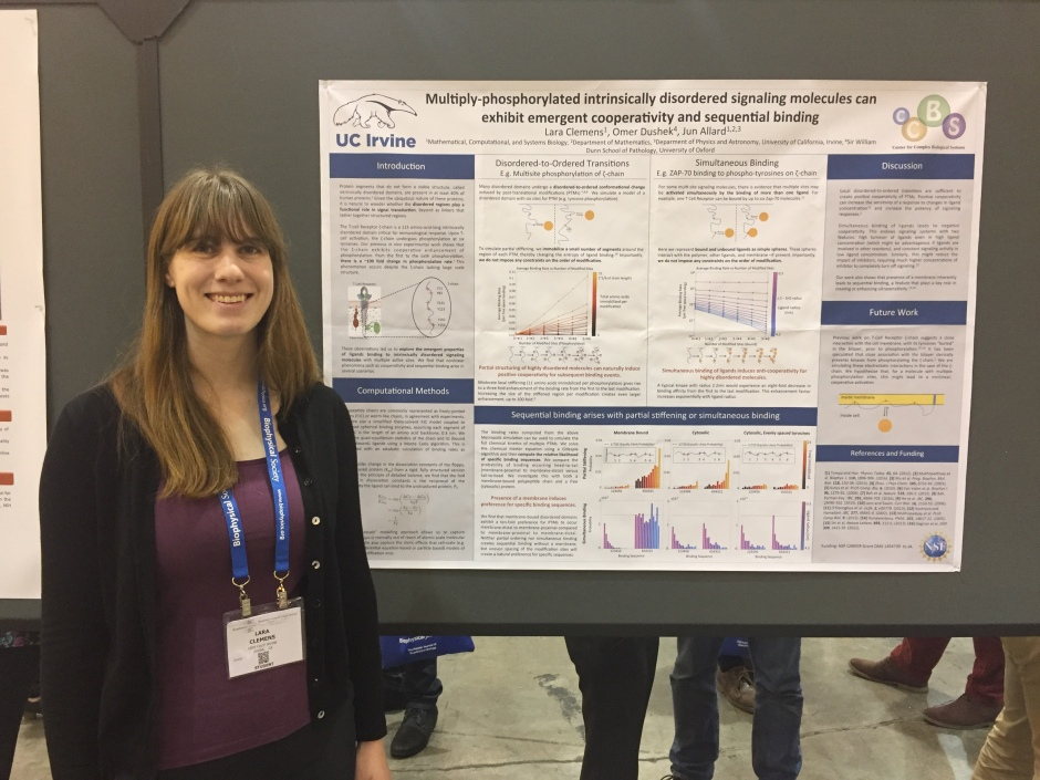 Lara at Biophysical Society 2017 (New Orleans)